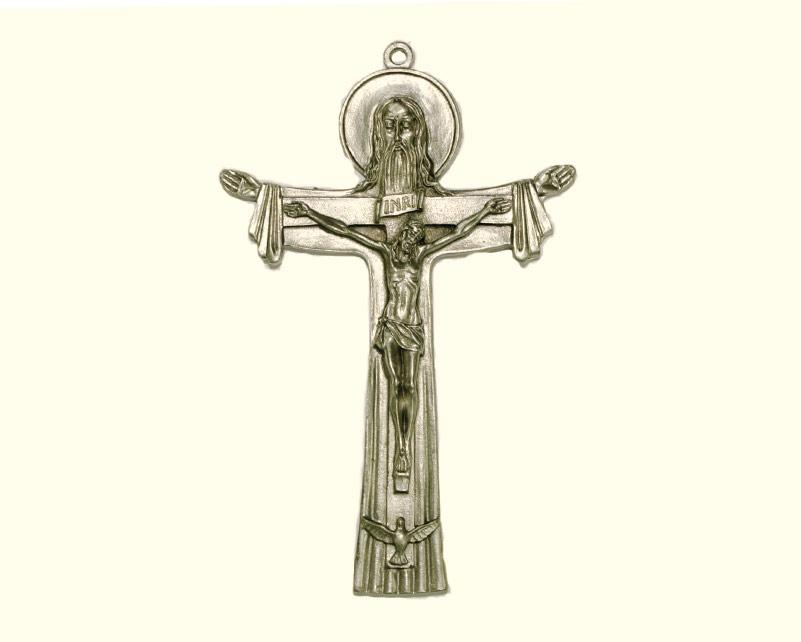 Cruz Santísima Trinidad 120mm. Italiana. metal