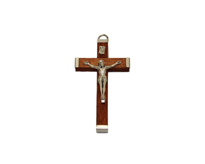 Cruz madera y metal 55mm. Italiana