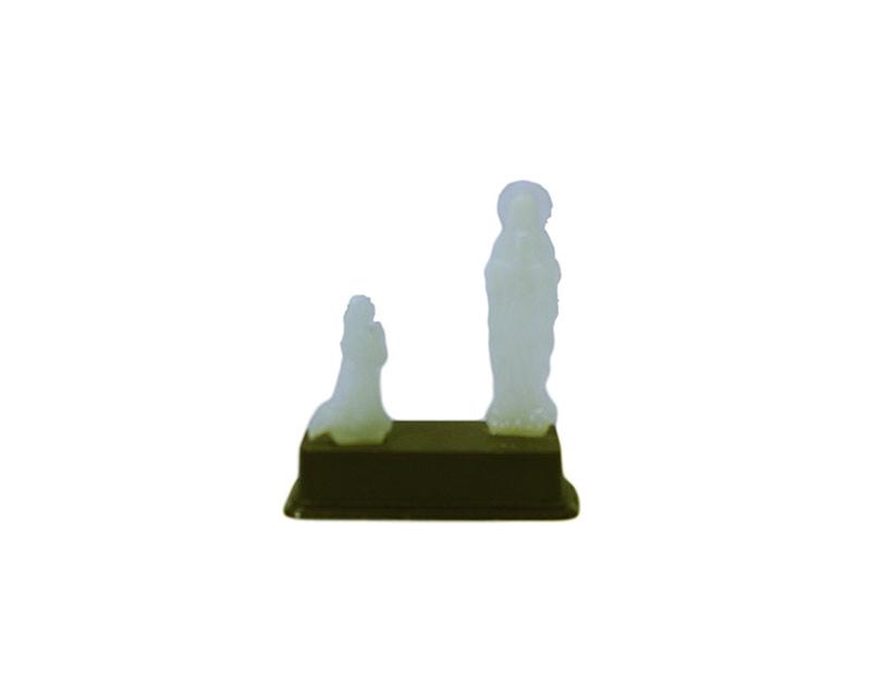 Estatua luminosa Lourdes mini 6,5cm - plastica
