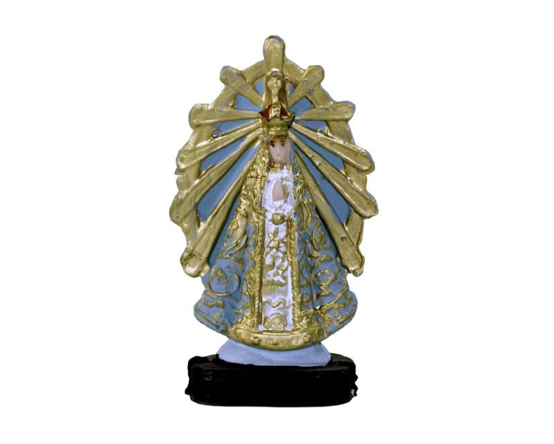 Estatua Virgen de Lujan 9cm PVC