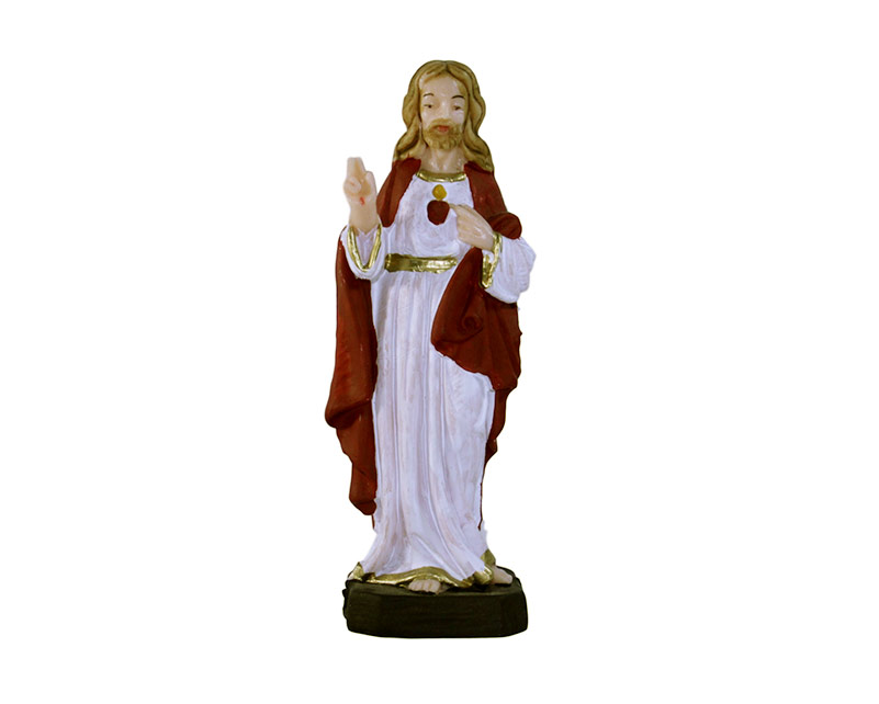 Estatua Corazón de Jesús 12cm PVC