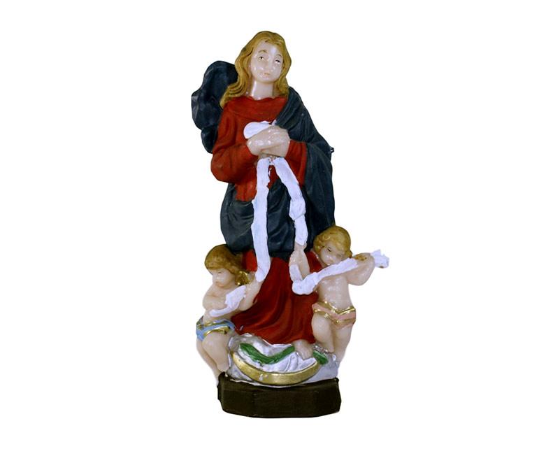 Estatua Virgen de los Nudos 15cm. PVC