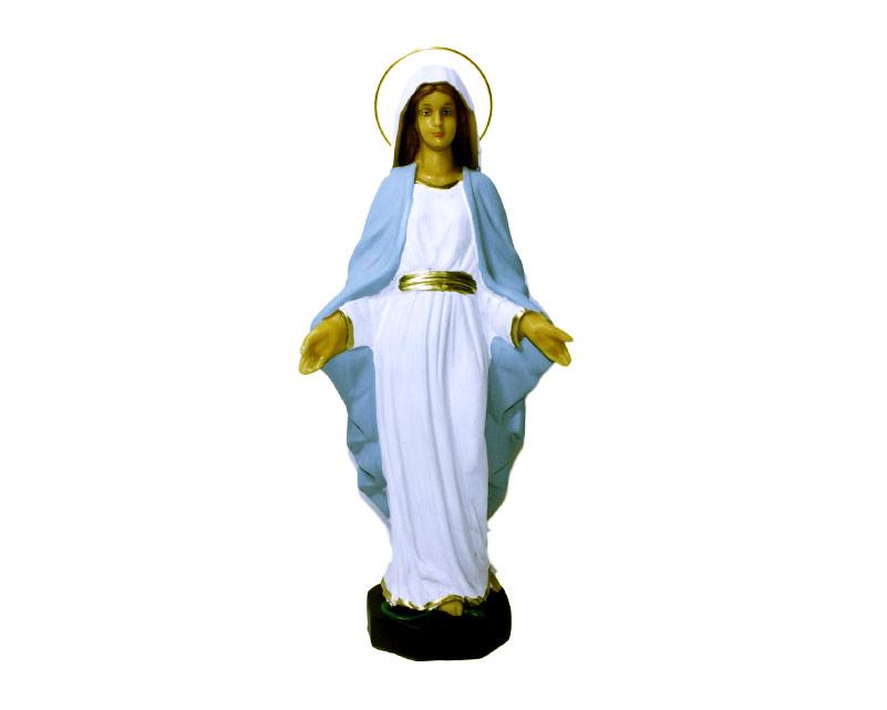 Estatua Virgen Milagrosa 30cm PVC