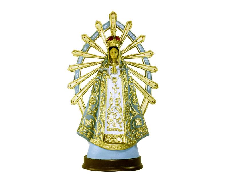 Estatua Virgen de Luján 30cm PVC