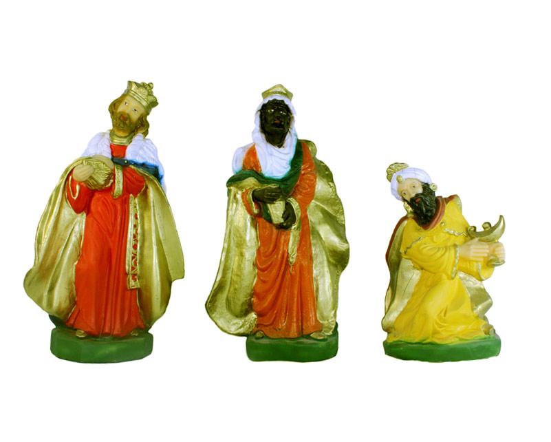 Estatua Rey mago 30cm p/pesebre