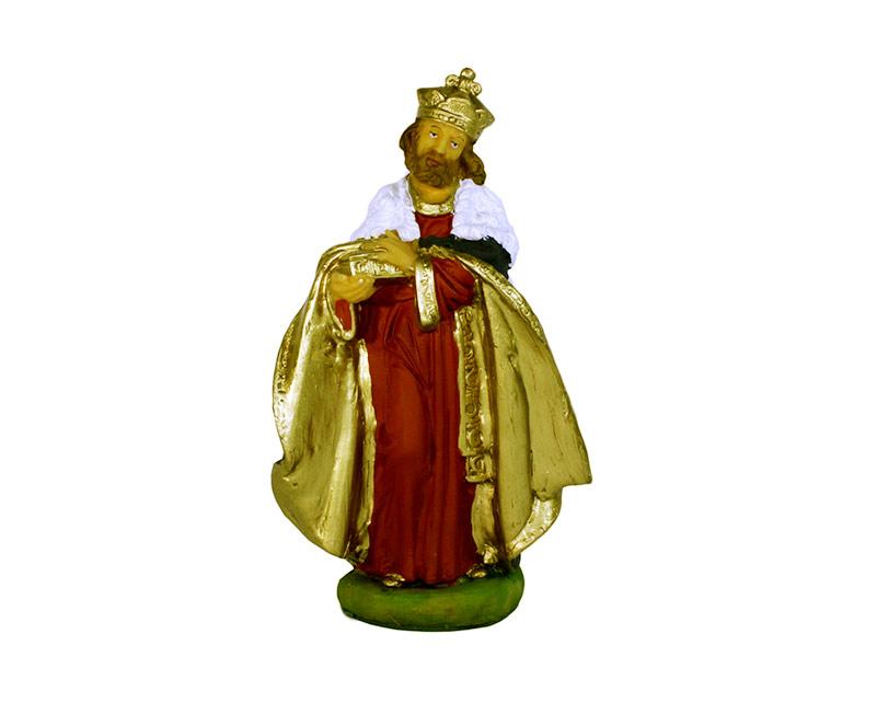 Estatua Rey mago 20cm p/pesebre