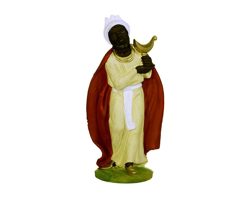 Estatua Rey mago 17cm  p/pesebre