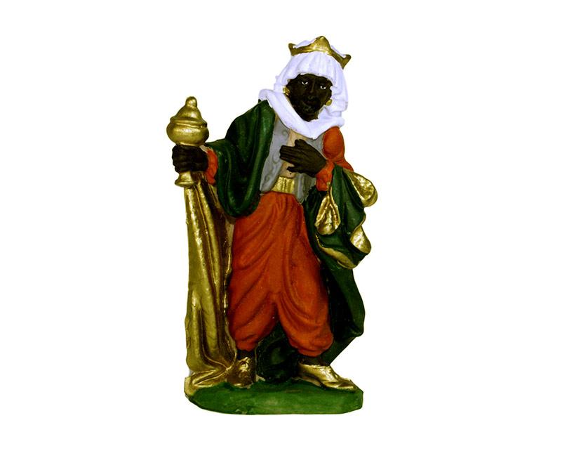 Estatua Rey mago 14cm  p/pesebre